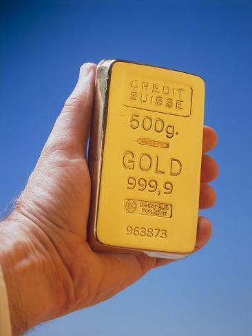 500g Ingot of Pure Gold Photographic Print