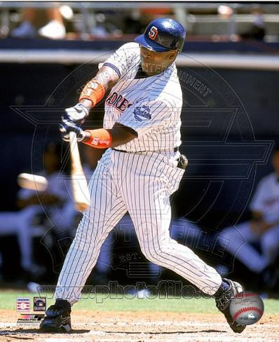 Tony Gwynn - 1999 Batting Action Photo