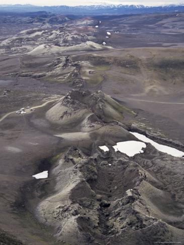 Fissure Vent with Spatter Cones, Laki Volcano, Iceland, Polar Regions Photographic Print