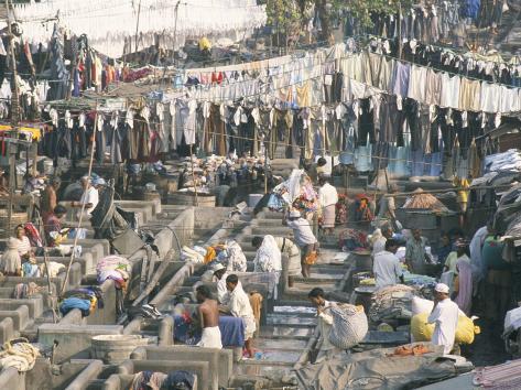 Municipal Laundry, Mahalaxmi Dhobi Ghat, Mumbai (Bombay), India Photographic Print