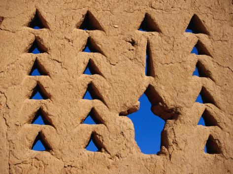 Architectural Feature of Al Dir'Aiyah Palace, Ancestral Home of Al-Saud, Riyadh, Saudi Arabia Photographic Print