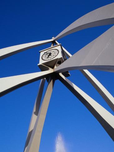 Clock Tower on Corniche Roundabout, Dubai, United Arab Emirates Photographic Print