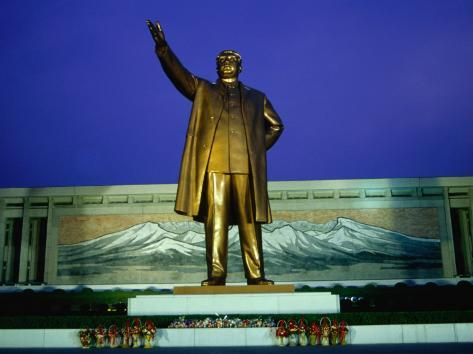 Large Mansudae Statue of Kim Il Sung, P'Yongyang, North Korea Photographic Print