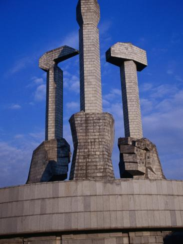 Monument to Party Foundation (Sickle, Hammer and Brush), P'Yongyang, North Korea Photographic Print