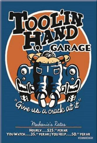 Toolin Hand Garage Magnet Magnet