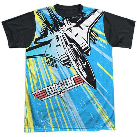 Top Gun- Rad Jet Black Back T-Shirt