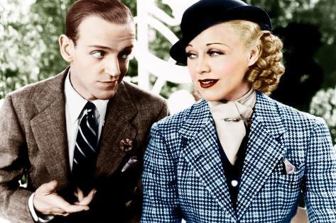 TOP HAT, from left: Fred Astaire, Ginger Rogers, 1935 Foto