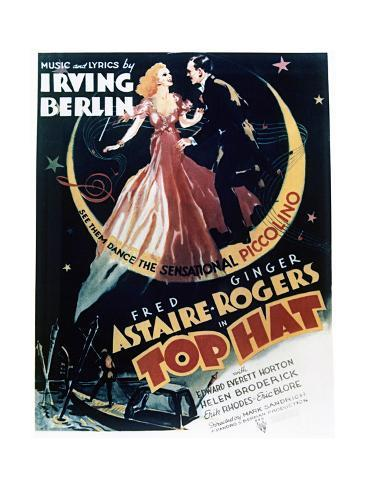 Top Hat - Movie Poster Reproduction Art Print