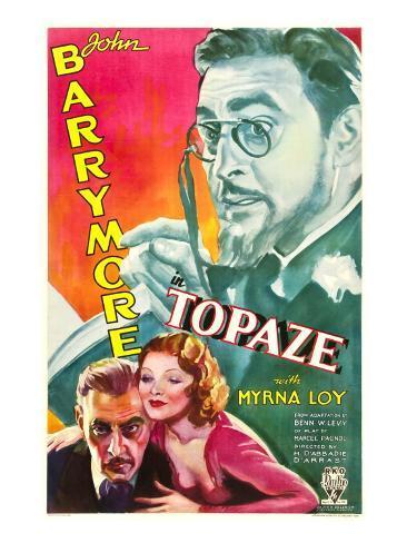 Topaze, John Barrymore, Myrna Loy, 1933 Stretched Canvas Print