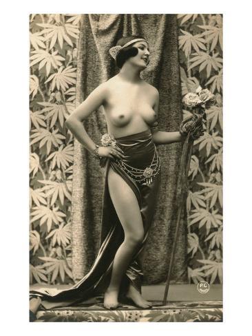 Topless Dancer Art Print