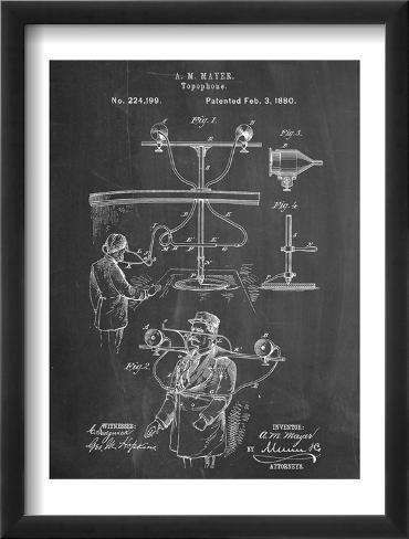 Topophone Patent Framed Art Print