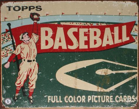 Topps Baseball 1954 Carteles metálicos