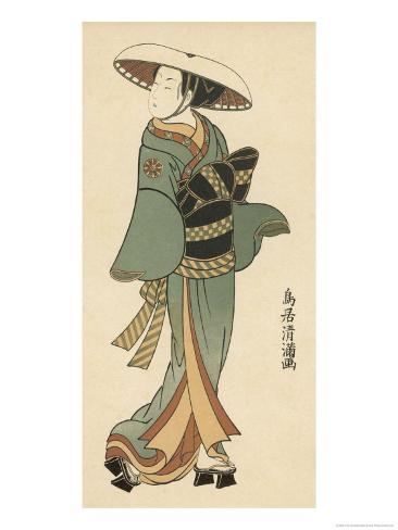 The Celebrated Actor Tomedjuro Nakamura in the Female Role of Kaishi Giclee Print