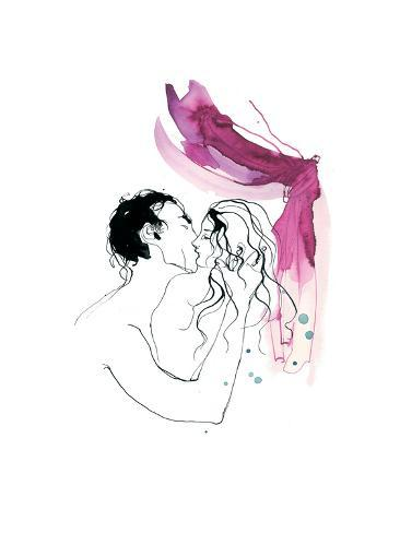 Kissing, Man and Woman, 2013 Giclee Print