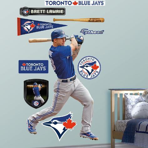 Toronto Blue Jays Brett Lawrie Wall Decal Sticker & Toronto Blue Jays Brett Lawrie Wall Decal Sticker Wall Decal ...