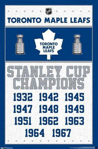 Toronto Maple Leafs - Stanley Cup Champions Poster