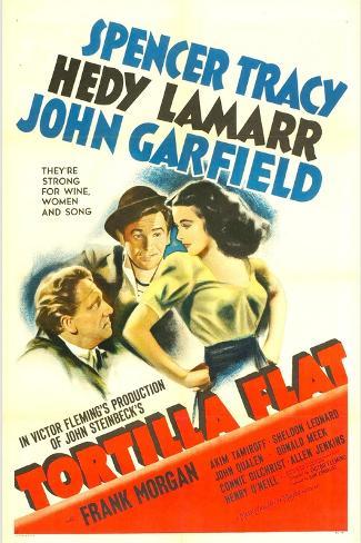 TORTILLA FLAT, from left: Spencer Tracy, John Garfield, Hedy Lamarr, 1942. Stampa artistica