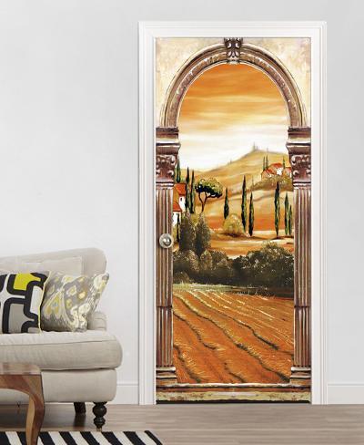 Toscana papel pintado para las puertas mural de papel - Papel pintado para puertas ...