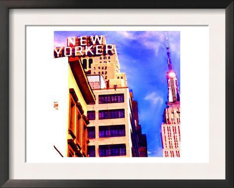 New Yorker, New York Framed Art Print