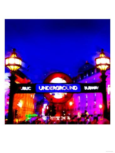 Piccadilly Circus Tube, London Art Print