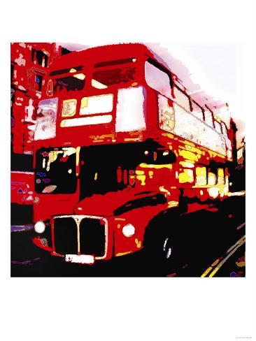 Red Bus, London Art Print