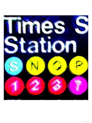 Subway Sign, New York Art Print
