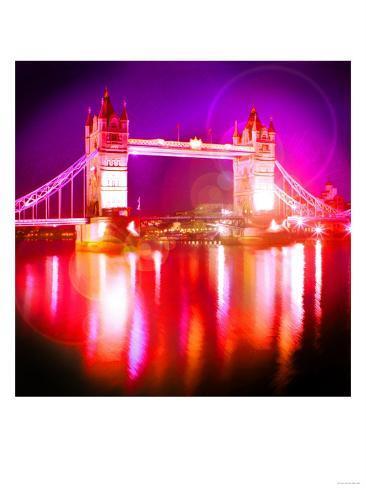 Tower Bridge Night, London Art Print