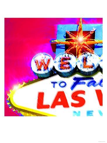 Welcome To Vegas, Las Vegas Art Print