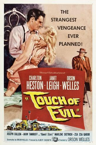 Touch of Evil, Charlton Heston, Janet Leigh, Orson Welles, 1958 Stampa artistica