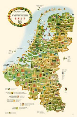 tourist map of belgium holland and luxemburg