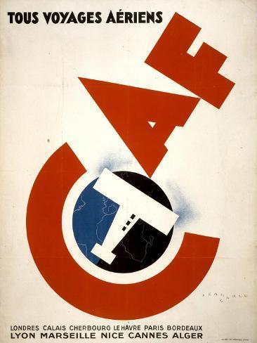 Tous Voyages Aeriens Art Print