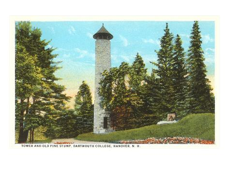 Tower, Dartmouth College, Hanover, New Hampshire Art Print