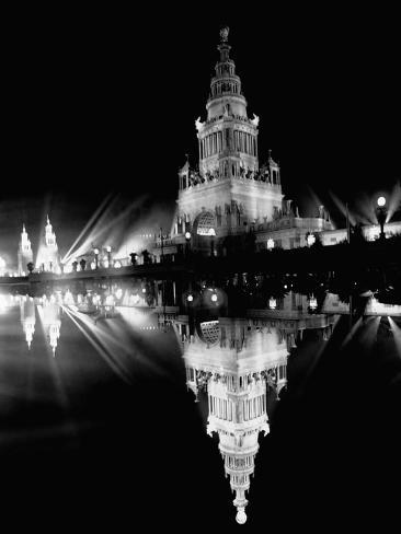 Tower of Jewels at Night Photographic Print