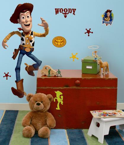 Toy Story - Woody gigante (sticker murale) Decalcomania da muro