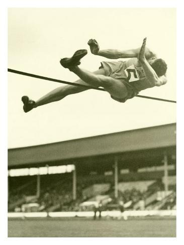 Track and Field, High Jump Giclee Print