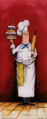 Chef With Pastry Art Print
