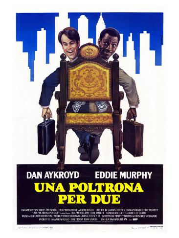 Trading Places, Italian Movie Poster, 1983 Stretched Canvas Print