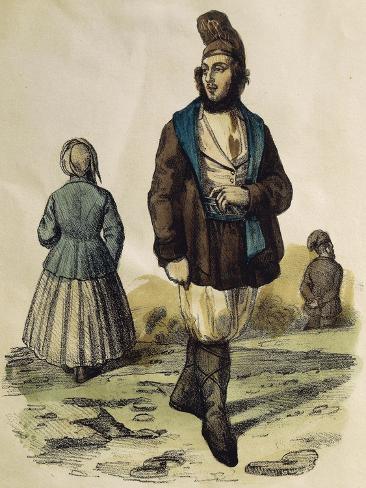 Traditional Costume of Tempio Pausania, Sardinia Giclee Print