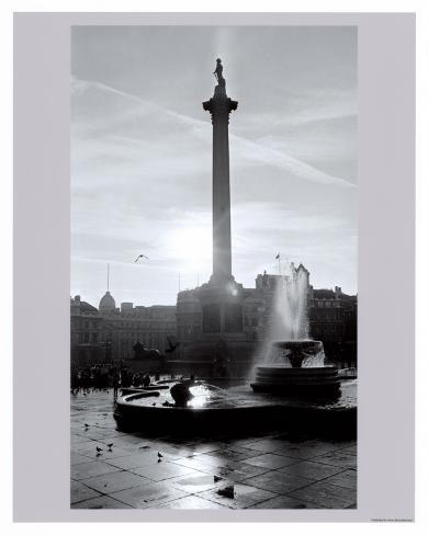 Trafalgar Square at Sunset, London, December 1968 Art Print