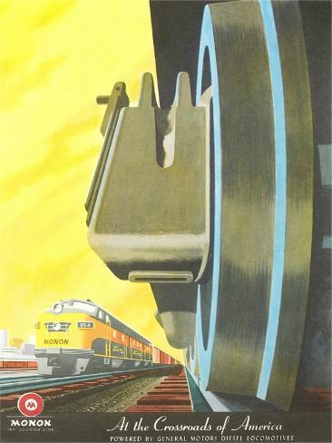Train Wheel Close-Up Stampa artistica