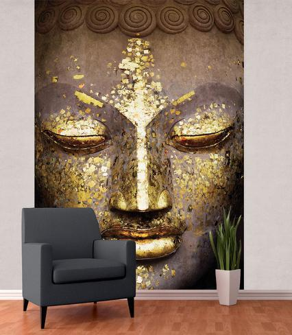 Tranquil buddha wall mural wallpaper mural for Buddha wall mural