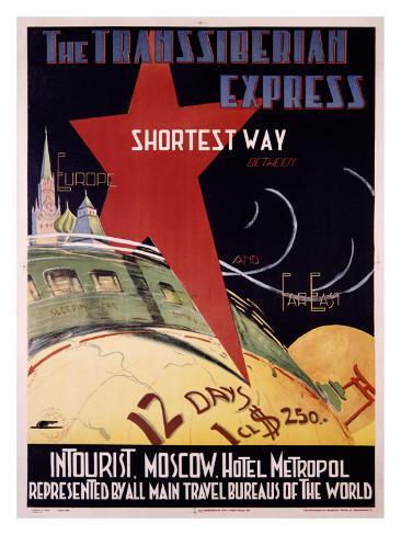 Trans-Siberian Express Giclee Print