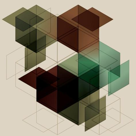 Geometric Cube Background. Eps10 with Transparency Art Print