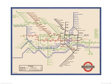 London Underground Map Harry Beck 1933 Prints by Transport for