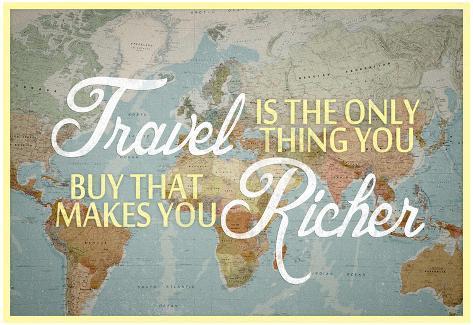 viajar es lo único que te hace más rico