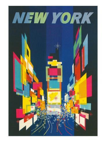 travel poster new york city prints. Black Bedroom Furniture Sets. Home Design Ideas