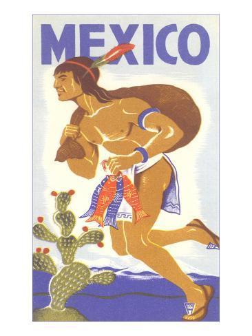 Travel Poster with Tarahumara Indian Running Art Print
