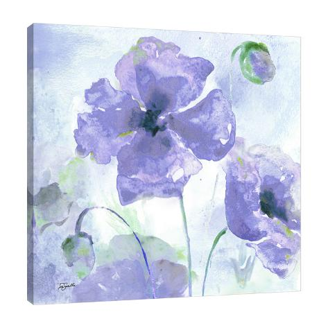 watercolor purple poppies iii gallery wrapped canvas by tre sorelle
