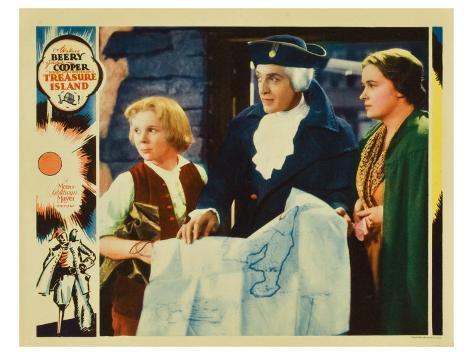Treasure Island, 1934 Stretched Canvas Print