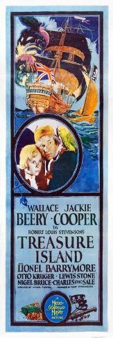 TREASURE ISLAND, from left: Jackie Cooper, Wallace Beery, 1934. Art Print